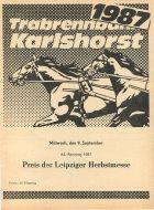 Trabrennbahn Berlin Karlshorst 1987