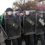 Polizeieinsatz bei Demo