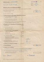 Bescheid zur Rentenerhoehung 1968