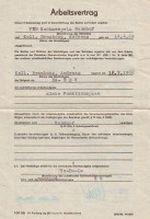 Arbeitsvertrag VEB Sachsenpelz Naunhof 1988 Seite 1