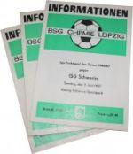 Fußballprogramme der BSG Chemie Leipzig