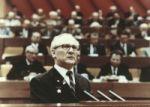 Erich Honecker bei einer Rede