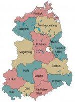 Die Bezirke der ehemaligen DDR