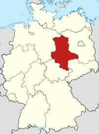 Lage von Sachsen-Anhalt in Deutschland