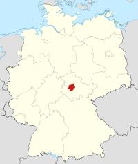 Lage von Gotha in Deutschland