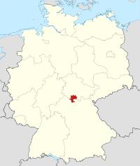 Lage von Hildburghausen in Deutschland