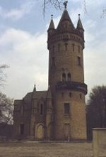 Flatowturm im Park Babelsberg in Potsdam 1979