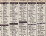 Das Wochenprogramm des ersten und zweiten DDR Fernsehen