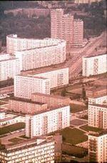 Teil eines Neubaugebietes in Berlin Ost