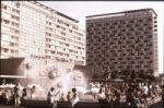 Ein alltägliches Bild in den Städten der DDR