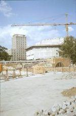 Baustelle neues Gewandhaus in Leipzig und Moritzbastei