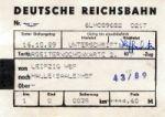 Deutsche Reichsbahn Arbeiterwochenkarte